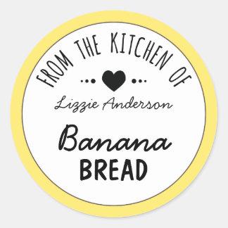 Amarillo moderno de la cocina de la etiqueta