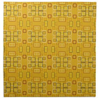 Amarillo moderno del modelo de mosaico de los cuad servilleta