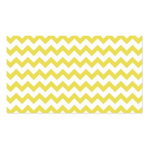 Amarillo moderno elegante del modelo de zigzag de  tarjetas de visita