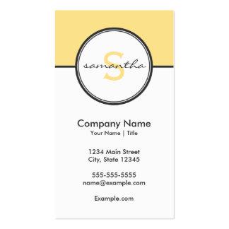 Amarillo moderno y gris tarjetas de visita