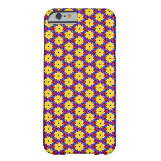 Amarillo Molinillo de viento-como diseño en el Funda Barely There iPhone 6