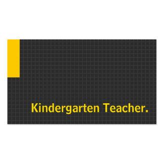 Amarillo múltiple del propósito del profesor de gu tarjeta personal