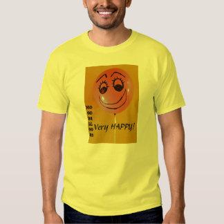 Amarillo muy feliz camisas