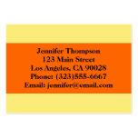 amarillo-naranja plantilla de tarjeta de negocio