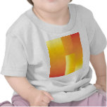 Amarillo, naranja y extracto rojo camisetas