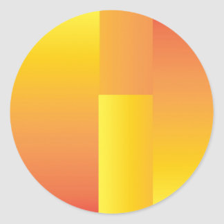 Amarillo, naranja y extracto rojo pegatina redonda