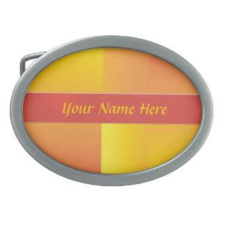Amarillo naranja y hebilla del cinturón abstracta hebilla cinturon