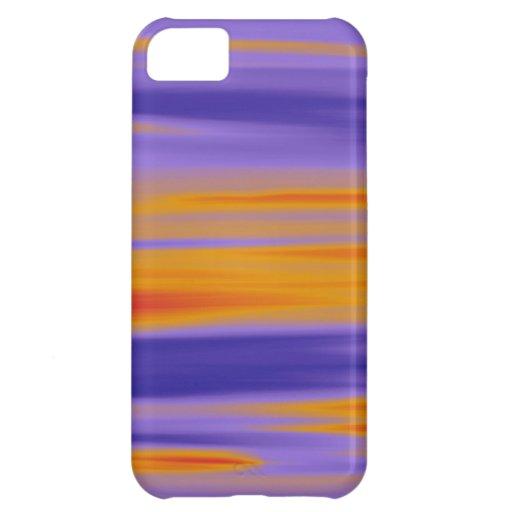 Amarillo, naranja y púrpura pintando arte gráfico funda para iPhone 5C