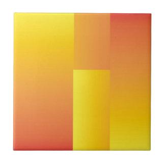 Amarillo, naranja y teja abstracta roja de la coci