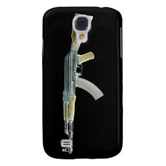 Amarillo negativo de AK-47 Carcasa Para Galaxy S4