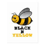 Amarillo negro de N Postales