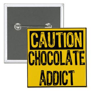 Amarillo/negro del adicto al Muestra-Chocolate de  Pin Cuadrado