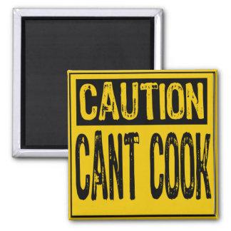 Amarillo/negro del cocinero del canto de la muestr imán de frigorifico