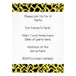 Amarillo negro y brillante del modelo gráfico abst invitaciones personales