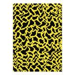 Amarillo negro y brillante del modelo gráfico abst comunicado personalizado