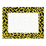 Amarillo negro y brillante del modelo gráfico abst tarjetas postales