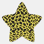 Amarillo negro y brillante del modelo gráfico calcomanía cuadrada