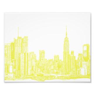Amarillo oscuro NYC Impresión Fotográfica