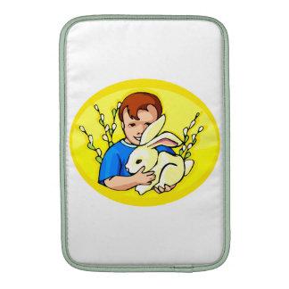 amarillo oval png del conejo del muchacho w fundas macbook air