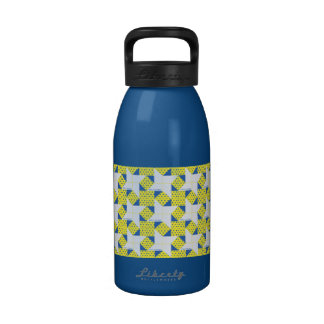 Amarillo pálido azul de la estrella del bloque del botallas de agua