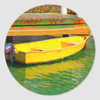 amarillo pegatina redonda
