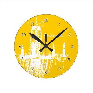 Amarillo personalizado de la mostaza del reloj de