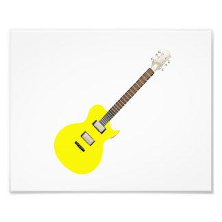 amarillo .png de la guitarra eléctrica fotografía
