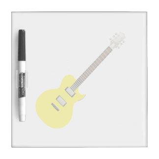 amarillo .png de la guitarra eléctrica pizarra