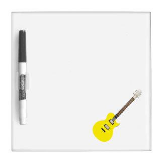 amarillo .png de la guitarra eléctrica pizarras blancas