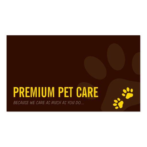 Amarillo PROFESIONAL del cuidado de animales de Tarjetas De Visita