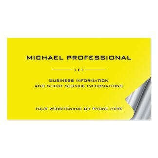Amarillo profesional moderno de la plata de la tar plantilla de tarjeta de visita
