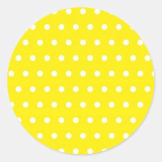 amarillo pünktchen polka dots hots puntúa tocan li pegatina redonda