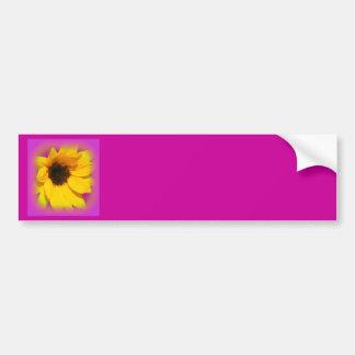 amarillo púrpura del zonnebloem pegatina de parachoque
