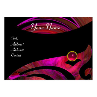 Amarillo púrpura negro rosado rojo DE RUBÍES del V Tarjetas De Negocios