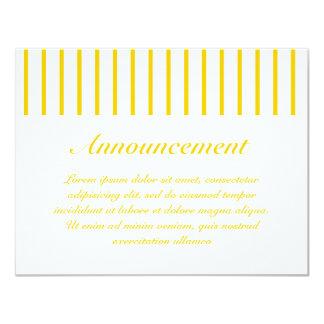 Amarillo + Rayas de encargo del estrecho del color Comunicado