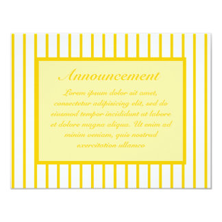 Amarillo + Rayas de encargo del estrecho del color Comunicado Personal