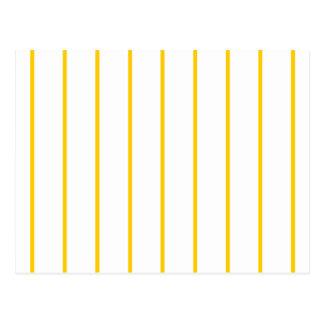 Amarillo + Rayas de encargo del Pin del color Tarjeta Postal