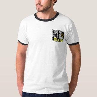 Amarillo real del desgaste de hombres de la camisas