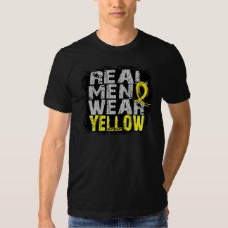 Amarillo real del desgaste de hombres de la polera