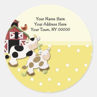 Amarillo redondo de la vaca del MOO del bebé de la