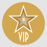 Amarillo redondo del pegatina del VIP de la