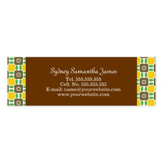 Amarillo retro y tarjeta del perfil de Brown Plantilla De Tarjeta De Negocio