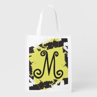Amarillo reutilizable personalizado del bolso de bolsas de la compra