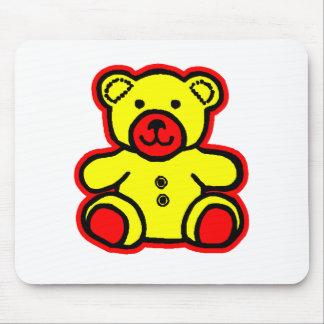 Amarillo rojo 2 del oso de peluche los regalos de  tapetes de ratón