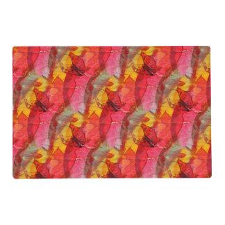 Amarillo rojo del arte de la acuarela tapete individual