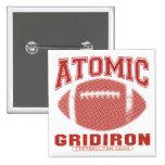 Amarillo rojo del Gridiron atómico Pin