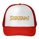Amarillo/rojo del logotipo de Shazam Gorros Bordados