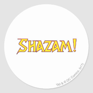 Amarillo/rojo del logotipo de Shazam Pegatina Redonda