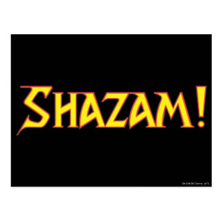 Amarillo/rojo del logotipo de Shazam Postal