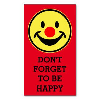 Amarillo rojo del smiley de la nariz + su backg. y tarjetas de visita magnéticas (paquete de 25)